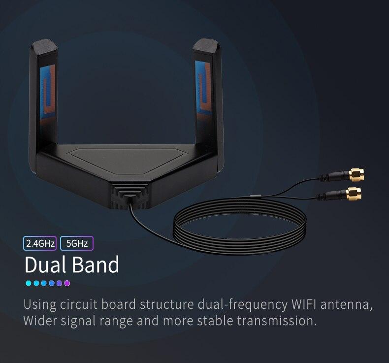 Wifi6 3000mbps desktop pcie wifi adaptador intel