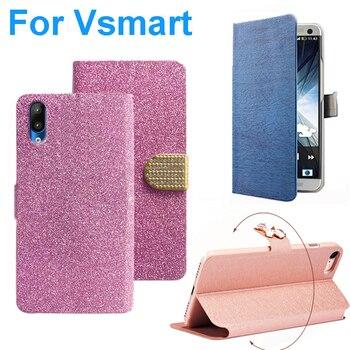 Перейти на Алиэкспресс и купить 3 стиля для Vsmart Live Star, чехол Мягкие кожаные для телефона, чехол-бумажник, чехол с функцией стойка чехол для Vsmart Joy 2 Plus, защитный чехол с Пчелой
