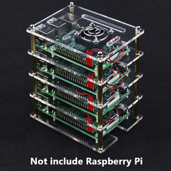 Raspberry Pi 4 Acryl Case Raspberry Pi 3B 1-10 Layer Case Box Transparante Behuizing Voor Raspberry Pi 4 3 Model B 3B Plus
