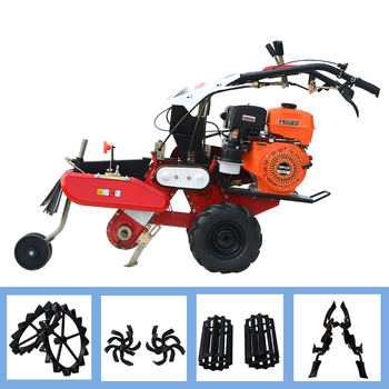 170 Gasoline hand starter Micro-tillage machine soil pastoral agricultural rotary tiller ridge grass film cultivation machine agricultural wastes as soil amendments for cowpea cultivation