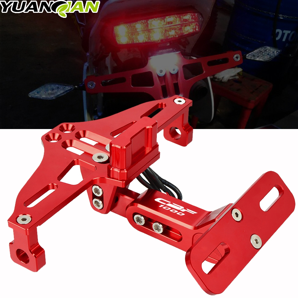 Motorcycle accessories LED License Plate Holder Support Plaque Moto Bracket Frame FOR HONDA CBF1000 CBF 1000 2006 2007 2008 2009 image