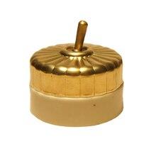 Interrupteurs rétro en laiton, 2 pièces, à levier unique Sontrol, On/off en cuivre, interrupteur de sonnette décorative avec barre en céramique