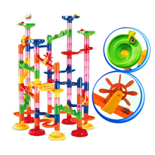 Building-Blocks Track Construction-Marble Race-Run Maze-Balls DIY for Children 105PCS