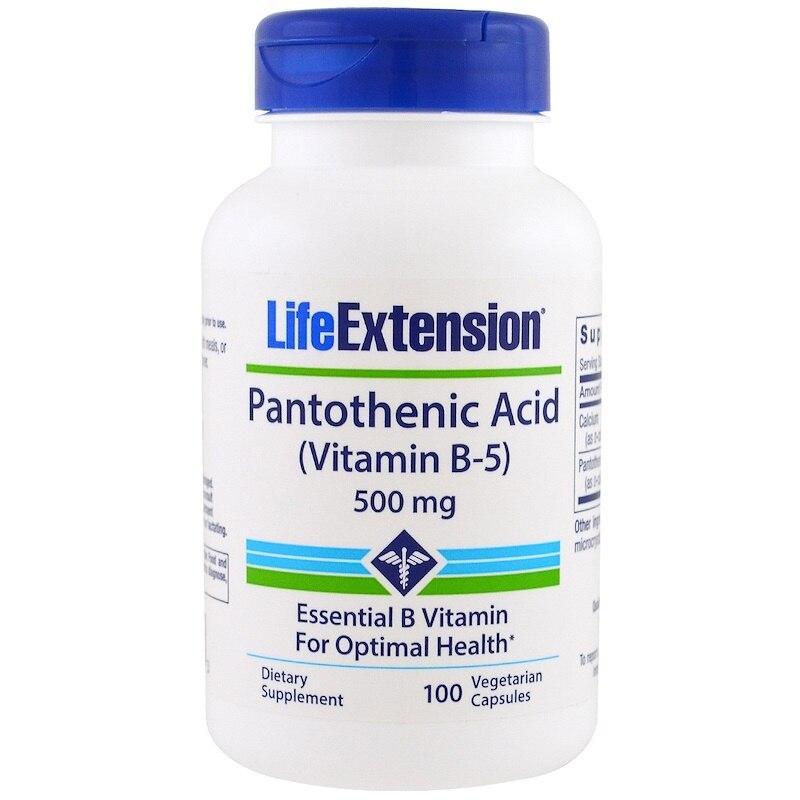 Pantotenik Asit Vitamin B-5 500 Mg 100 Adet.