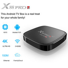 Smart Android X88 PRO T TV Box Android 10 TV Box Youtube HD 4K 2.4G/5G wifi 1GB 8GB 2GB 16GB Media Player set-top boxes