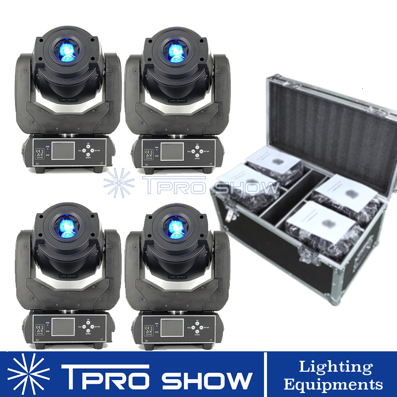 4Pcs 90W Moving Head Spot Light LED Lyre Gobo Rotating Prism Stage Lighting Effect DJ 4in1 Fly Case Packing For Disco Bar Club