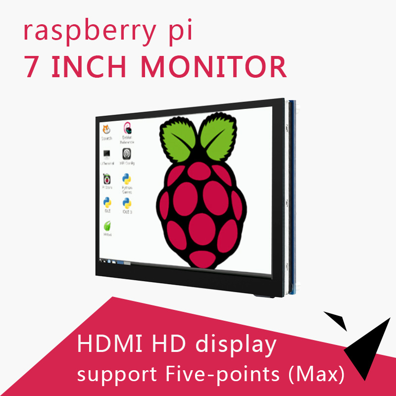 7Inch Raspberry Pi Touch Screen 7'' Display 1024×600 HDMI Interface Supports Raspberry Pi 4/3B+/3b/Zero