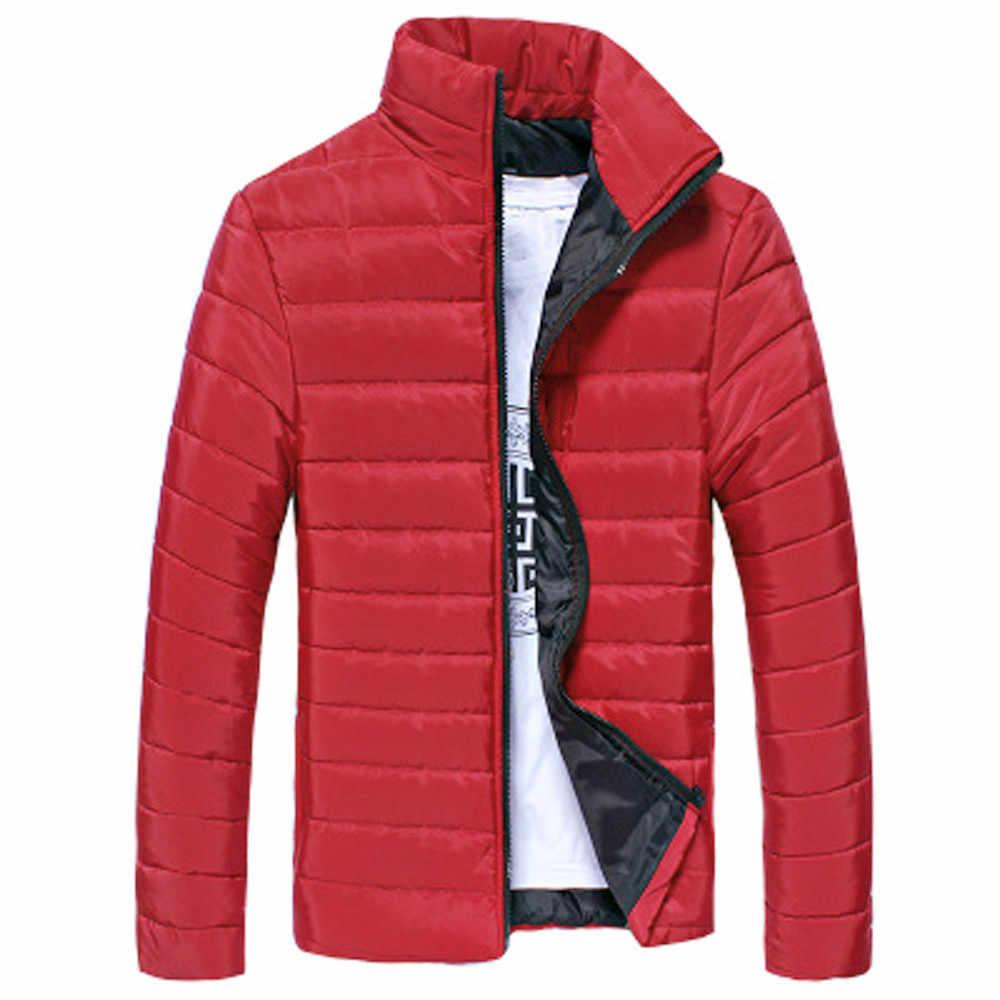 겨울 자켓 파카 남성 가을 겨울 따뜻한 아웃웨어 브랜드 슬림 남성 코트 캐주얼 윈드 브레이커 퀼트 자켓 남성 M-5XL