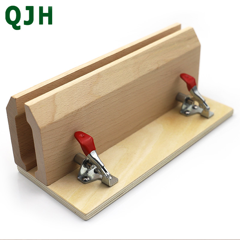 QJH Brand Hand-Stitched Sewing Horse Leather Craft Table Pony Clamp Leather Stitching Tool DIY Leather Beech Wood Sweing Tool