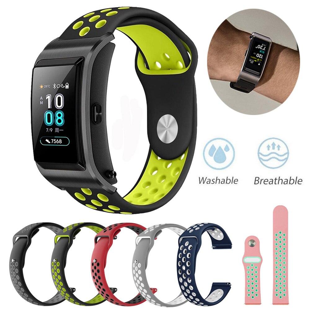 For Huawei Talkband B5 Smart Watch Silicone Watchbands Replacement Sports Bracelet 18mm Watch Band Strap Huawei B5 ремешок