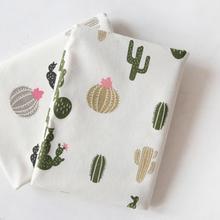 Хлопковая и льняная ткань с рисунком кактуса, льняная декоративная подушка, скатерть DIY, патч-ткань