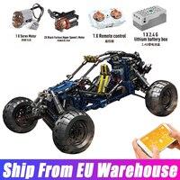 Mould König 18018 Hohe-tech Blitz Buggy Wüste Rennen Auto Modell APP RC Racing Auto Bausteine Ziegel Kinder geburtstag Spielzeug