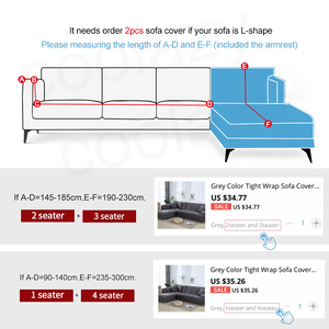Image 2 - Elastic Plaid Sofa Covers for Living Room Need Order 2 Pieces Cover for fundas sofas con chaise longue funda sofa Armchair Cover