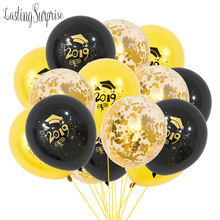 Graduation Balloons 2019 2020 Confetti Ballons Printed Congratulation Graduation Gift High School Party Decorations Balloons Set