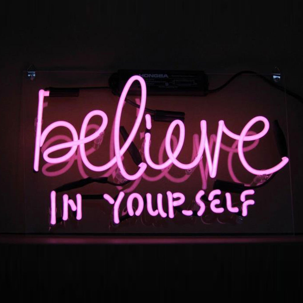 Custom Believe In Your Self Neon Lights For Sale Design Your Own Logo And Signs With Real Neon Lights Outdoor Commercial Signs