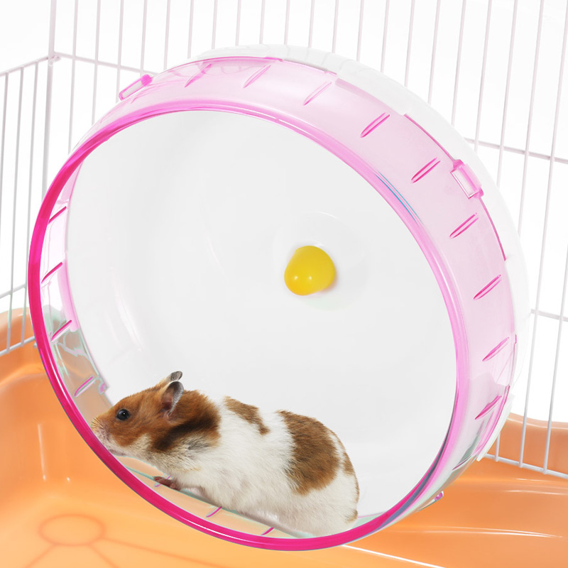 Economical Hamster Running Disc Toy  Silent Rotatory Jogging Wheel Pet Sports Wheel Toys Ds99