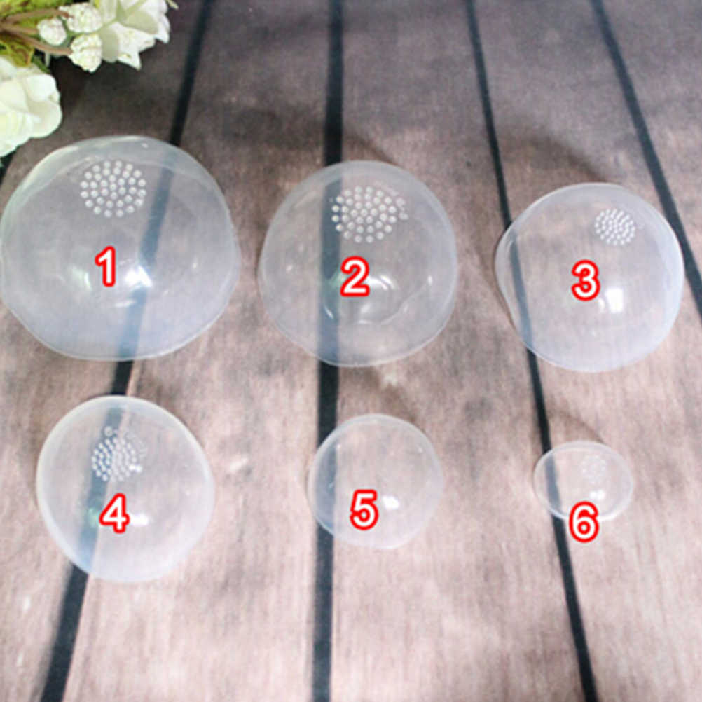 100% New Clear Silicone Wig Cap Protection Cover For 1/6 1/4 1/3 Doll Silicone Headgear Accessories