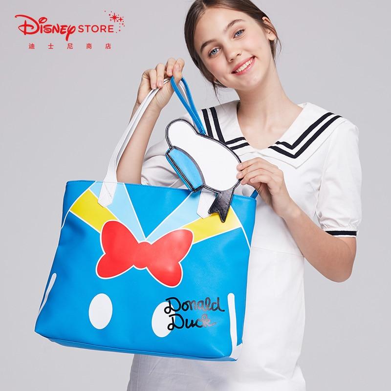 Original Disney Fashion Donald Duck Large Capacity Tote Bag Cute Cartoon Single Shoulder Bag New Product Backpack