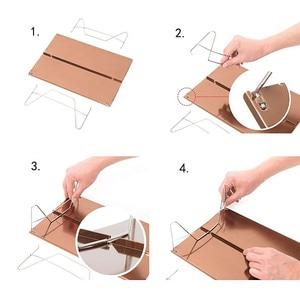 Image 5 - Ultra light mini picnic table aluminum folding tea table outdoor camping hiking hiking portable barbecue table