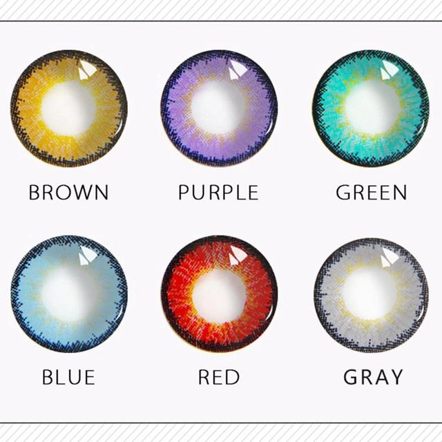 Colorful Contact Lenses One Pair Round Eye Lenses Pupil Pupil Eyeball For Eyes Durable Eyeball Contact Lenses