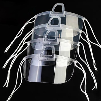 10/20Pcs Transparent Face Mask For Catering Special Anti-fog Spray Saliva Hotel Plastic Kitchen Restaurant Against Droplets Mask