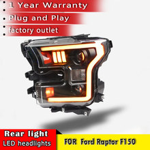 New car styling 2015 2018 Head Lamp for Ford Raptor F150 Headlights LED Headlight DRL Lens Double Beam Bi Xenon HID