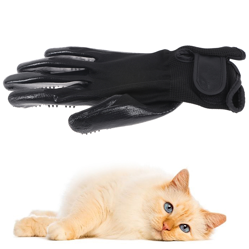 Pet hair combing gloves Cat Grooming Glove Hair Deshedding Brush Gloves Dog Comb Cats Dogs Bath Gentle Massage Clean