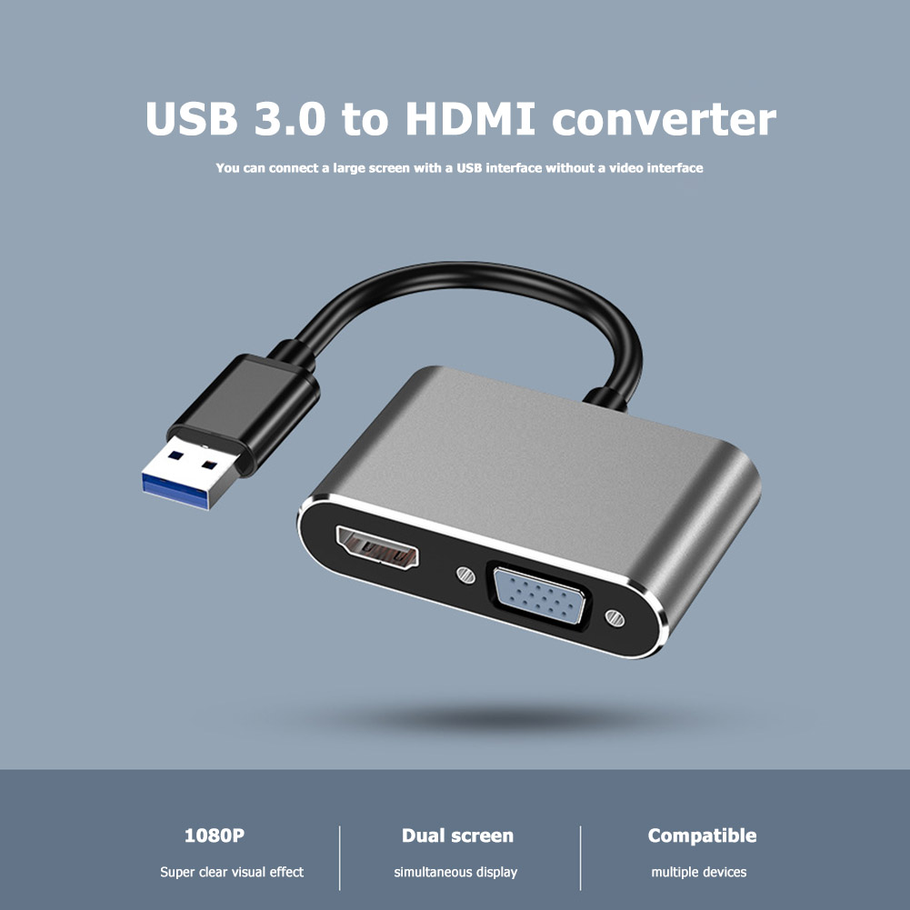 HDMI To VGA Adapter 1080P Male To Famale Converter Adapter 1080P Digital To Analog Video Audio For PC Laptop Tablet