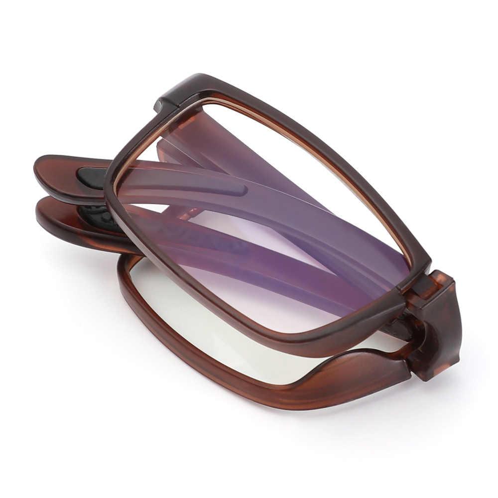 Gafas de presbicia portátiles, gafas de lectura plegables, gafas para hombre y mujer con dioptría antifatiga Urltra + 100 ~ + 400, gafas para presbicia