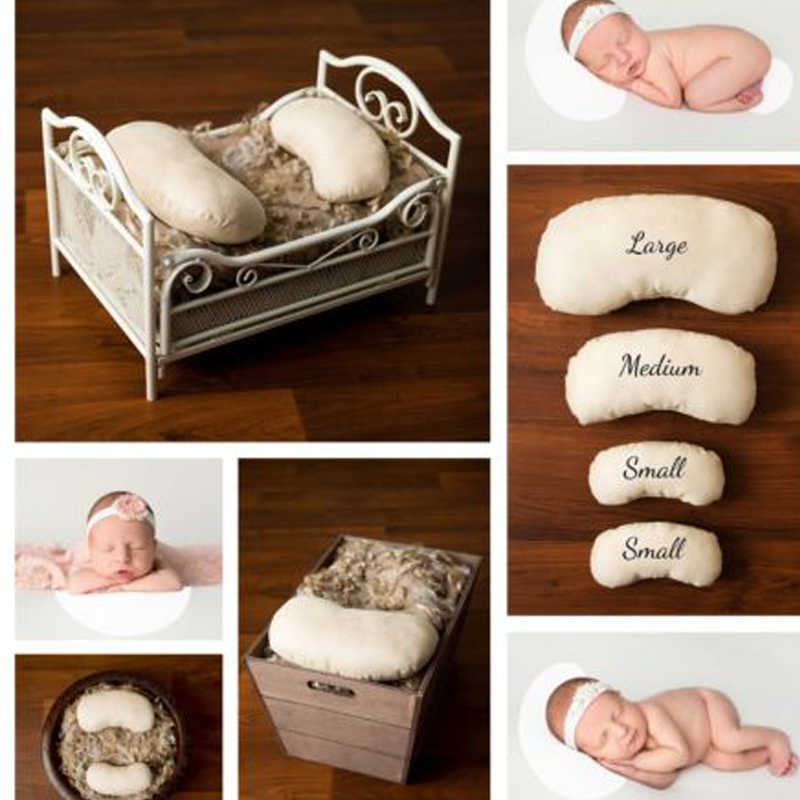 HOT! 4 Pack Set Newborn Photography Props Posing Beans Pillows Baby fotografia accessories Sets Pea Pillow Filled Polyester