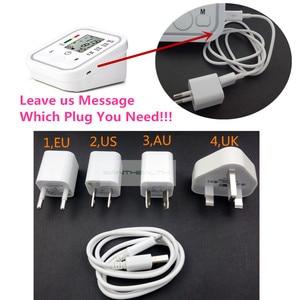 Image 4 - Moniteur numérique Lcd automatique de la pression artérielle du bras, rythme cardiaque, tonomètre, sphygmomanomètre