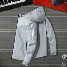 Casual Men's Jacket Autumn 2020 Fashion Zipper Jackets Men Coat Windbreaker Male Outwear Grey Windproof Brand Clothing Oversize