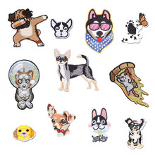 Dog Tiger Animal Patches for Clothing Iron Embroidered Sewing Applique Cute on Fabric Badge New DIY Apparel Accessori Decoration