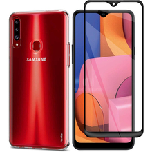 2-in-1 Glass + Full Cover Case for Samsung Galaxy A20S A20 A