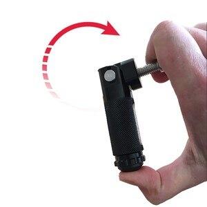 Image 5 - 2pcs 블랙 슬라이 버 CNC 알루미늄 유니버설 오토바이 모터 자전거 접는 Footrests Footpegs 발 Pegs 후면 페달 세트 부품