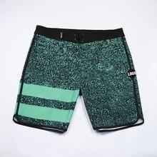 Быстросохнущие пляжные шорты, водонепроницаемая эластичная одежда для плавания из спандекса, мужские шорты для серфинга, фитнеса, тренажер...