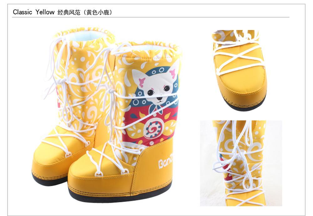 De niños de cuero genuino botas de nieve de invierno de 2019 niñas de lentejuelas zapatos de algodón chico Barco de bebé de terciopelo de algodón cálido botas - 2