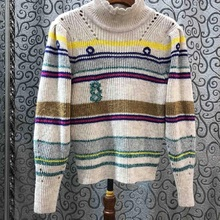 High Quality Sweaters 2020 Spring Fashion Jumpers Women Striped Patterns Knittin