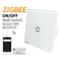 ZIGBEE קיר מתג AC100-240V הנורה דימר zigbee led מרחוק לילה אור בקרת עבודה עם zigbee APP gateway samrt טלפון שליטה