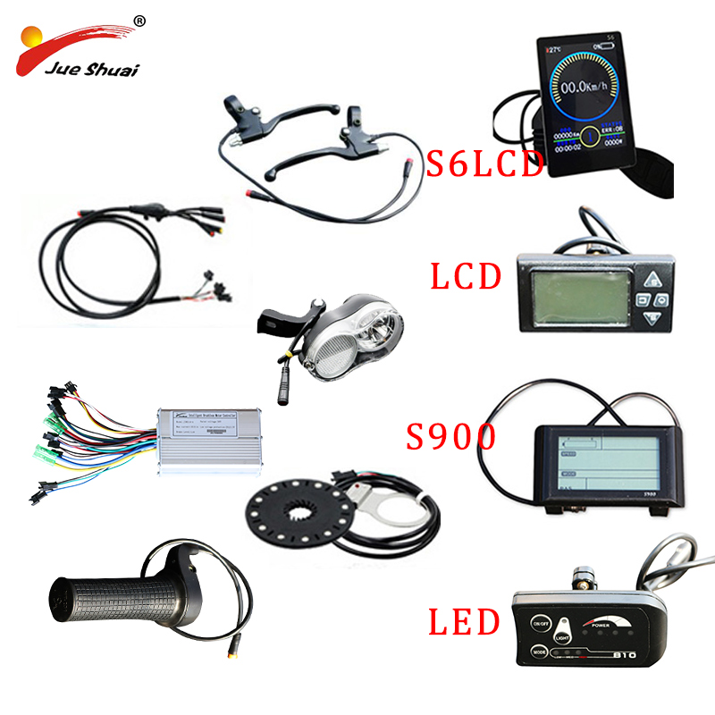 Electric Bicycle 36V 250W-500W Controller LCD Display PAS sensor 12 Magnets cool Throttle for E-bike Parts with waterproof cable
