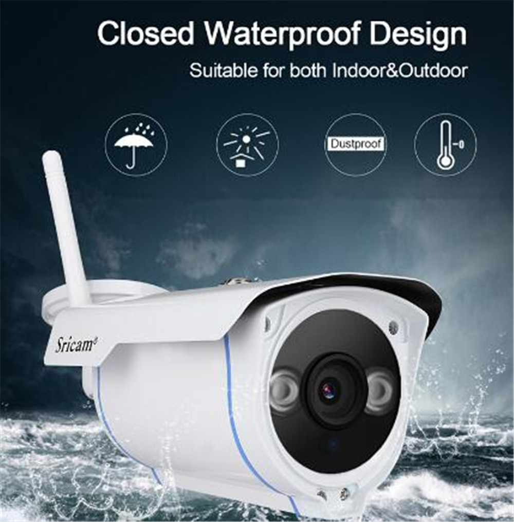 Sricam SP007 2MP 1080P Wireless Outdoor Water-proof IP Bullet Camera