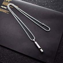 Ожерелье со свистком из нержавеющей стали для женщин и мужчин
