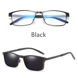 Image 4 - Magnet Eyeglasses Full Rim Optical Frame Prescription Metal Alloy Spectacle Men Myopia Eye Glasses Multi Use Sunglasses 996