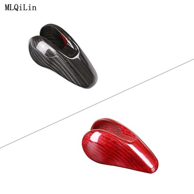 Car Gear Shift Head Cover Trim For Porsche MACAN 718 911 Panamera Cayman 2014-2020 Carbon Fiber0 Car Interior Accessories 2