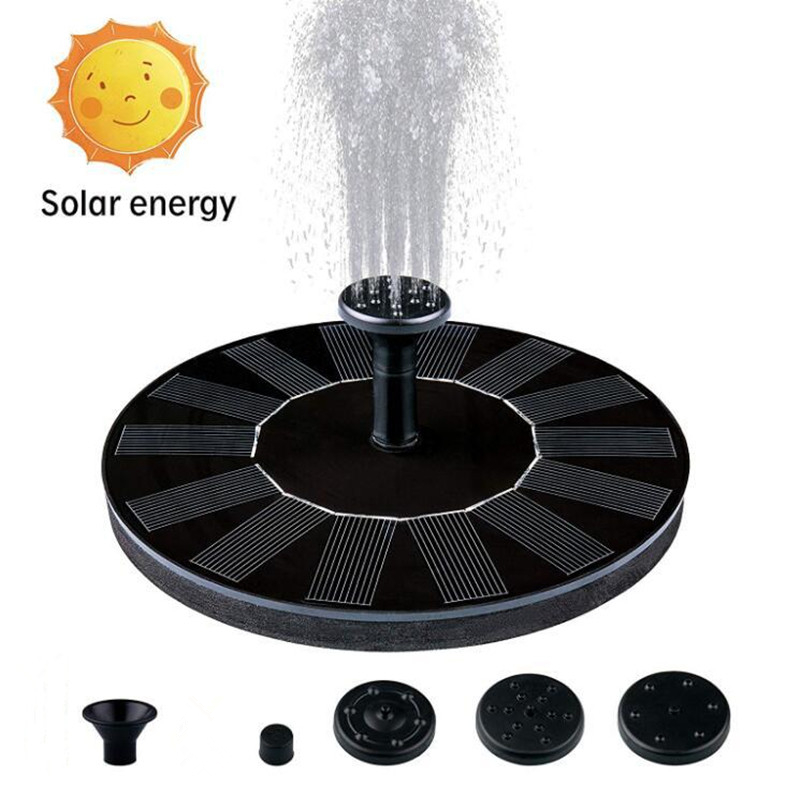 Solar Powered Fountain Panel with 5 Attachments