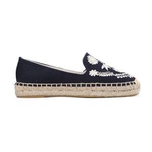 Image 5 - 2019 프로모션 세일 대마 웨지 코튼 원단 봄/가을 라운드 발가락 로마 zapatos de mujer 플랫폼 신발 lolita soludos