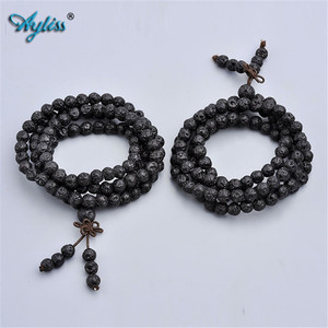 Image 3 - Ayliss Drop Schiff Lava Stein Diffusor Armbänder 108 Perlen Reiki Healing Balance Buddha Gebet Männer Frauen Armband Halskette Schmuck