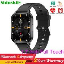 2021 Smart Watch Men 1.7 Inch Full Touch Music Control Smartwatch Women Heart Rate Fitness Tracker Q18 Custom Dials Sport Watch