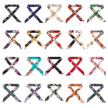 2020 New Silk Scarf Headband Long Ribbon Ponytail Hair Tie Scrunchies Women Girls Elastic Bands Accessories - discount item  25% OFF Headwear