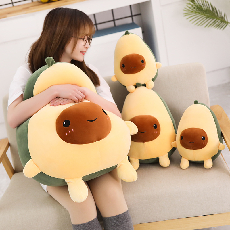 20-85CM Cute Avocado Pillow Creative Stuffed Plush Toy Filled Doll <font><b>Sofa</b></font> Cushion Child Kids Girl Baby Christmas Birthday Gift image